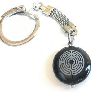 """Raktų pakabukas """"Vidinio Aš labirintas""""-akmuo Oniksas"""