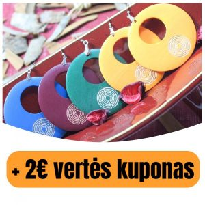 """Mediniai auskarai """"Vidinio Aš Labirintas-1″(+ 2€ kuponas)"""