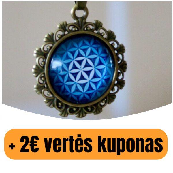 """Pakabukas su virvute """"Gyvybės gėlelės mandala""""(+ 2€ kuponas)"""